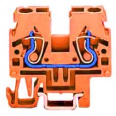Прохідна компакт-клема Wago 870-912 DIN 15 (помаранчева)