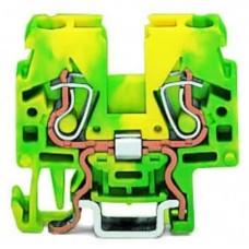 Прохідна компакт-клема Wago 870-917 DIN 15 (непоєднувані) (жовто-зелена)