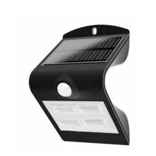 Вуличний LED світильник V-TAC 3800157652636 SKU-7528 Solar LED 3Вт 3000K+4000K з датчиком руху (чорний)
