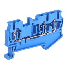 Пружинна клема IEK YZN11-3-002-K07 КПИ 3в-2.5 3 виводи 31А (синя)
