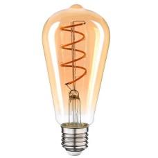 Філаментна LED лампа Vestum 1-VS-2703 ST64 Е27 4Вт 220В 2500К golden twist «вінтаж»