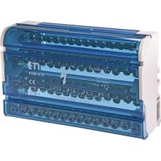 Розподільчий клемний блок ETI 001102305 EDB-415 4p 3L+PE/N 125A на 15 виходів