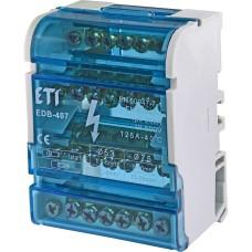 Розподільчий клемний блок ETI 001102303 EDB-407 4p 3L+PE/N 125A на 7 виходів