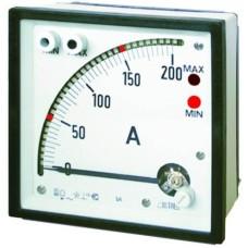 Частотомір стрілочний з релейним виходом, 1 Max, 1 Min, 35-200Гц (1-600В)