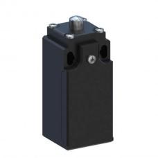 Кінцевий вимикач 30 мм пластиковий з металевим плунжером, миттєва дія 1NO+1NC, кабельний ввід PG13.5