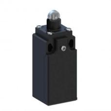 Кінцевий вимикач 30 мм пластиковий з металічним роликом, миттєва дія 1NO+1NC, кабельний ввід PG13.5
