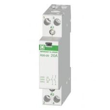 Модульний контактор 20А, 2НО, 230В