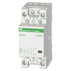 Модульний контактор 25А 4НО, 24В