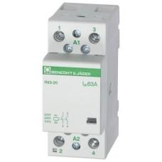 Модульний контактор 63А 4НО, 230В