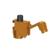 Гвинтова клема TRV 4 S для підключення трансформаторів з тримачем запобіжника, помаранчева