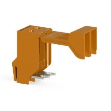 Гвинтова клема TRV 10 для підключення трансформаторів двополюсна, помаранчева