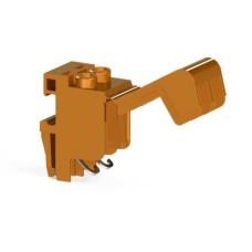 Гвинтова клема TRV 4 M для підключення трансформаторів двополюсна, помаранчева