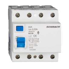 ПЗВ Schrack 10кА/30мА 4P 63А тип AC