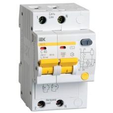Диференційний вимикач IEK АД12 2Р, 40А, 30мА