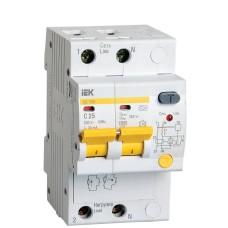 Диференційний автоматичний вимикач IEK АД12М 2Р, С25,30мА