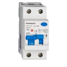 Дифавтомат Schrack АВДТ 6кА/30мА 1P+N 20A характеристика С тип A