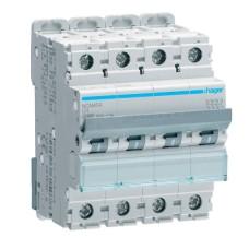 Автоматичний вимикач NCN404 (4р, С, 4А) Hager