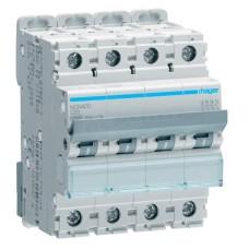 Автоматичний вимикач NCN420 (4р, С, 20А) Hager