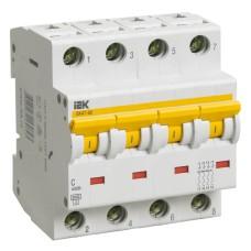 Автоматичний вимикач IEK ВА47-60 4Р з 32А