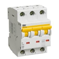 Автоматичний вимикач IEK ВА47-60 3Р D 40А 6кА
