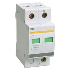 Обмежувач перенапруги IEK ОПС1-C 2P 20/40кА 400B