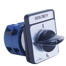Кулачковий перемикач IEK BCS14-025-4 ПКП25-44/O 25А (Uc-O-Ua-Ub) 4Р/400В
