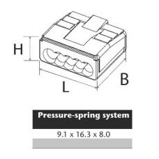 Клемблок пружинний ContaClip D1.5/2 на 2 проводи перетином 0,5-1,5мм кв