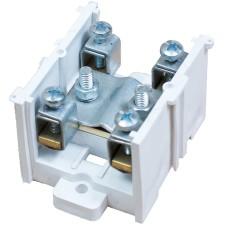 Клема прохідна КП 95Л (30) 1х95 мм.кв. / 4х16 мм.кв. з латунною контактною пластиною