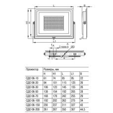 Світлодіодний прожектор IEK СДО 06-20 IP65 4000K