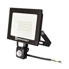 Світлодіодний прожектор з датчиком руху Евросвітло EV-30-504D 30Вт 2100Лм 6400К
