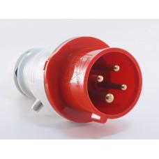 Трифазний штекер на кабель WALTHER WL210 (3P+N+E) 16А 380V IP44