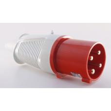 Трифазний штекер на кабель WALTHER WL260406 (3P+E) 63А 380V IP44