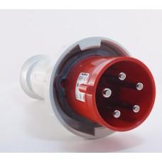 Трифазний штекер на кабель WALTHER WL269 (3P+N+E) 63А 380V IP67