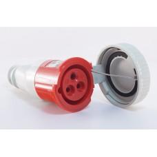 Силовий роз'єм на кабель WALTHER WL319309 (2P+E) 16А 400V IP67