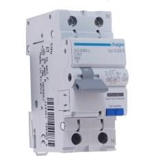 Диференційний вимикач Hager AD990J 40 А 1+N