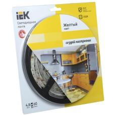 Светодиодная лента 5м IEK-eco LSR-3528Y60-4.8-IP65-12V