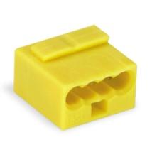 Мікро-клема для розподільних коробок WAGO на 4 провідника 243-504 жовта