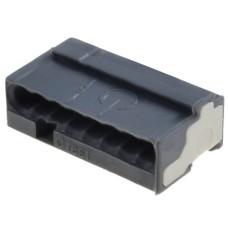 Мікро-клема для розподільчих коробок на 8 провідників WAGO 243-208 темно-сіра