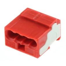 Мікро-клема для розподільчих коробок, на 4 провідника, 243-804 червона, WAGO
