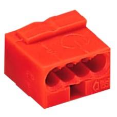 Мікро-клема для EIB систем на 4 провідника WAGO 243-814 червона