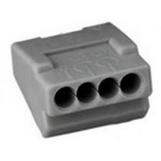 Клемблок пружинний ContaClip D1.5/4 на 4 проводи перетином 0,5-1,5мм кв
