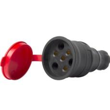 Силовий роз'єм на кабель E.Next e.socket.rubber.031.25