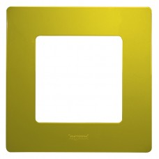 Рамка 1 постова зелена папороть Legrand