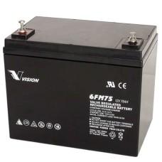 Акумуляторна батарея Vision FM 12В 75 AH