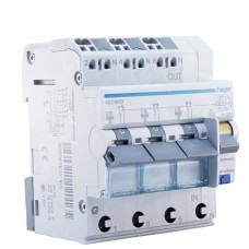 Диференційний автоматичний вимикач Hager ADZ360D, C10А, 30мА