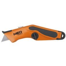Ніж Neo Tools 63-701 з трапецієподібним лезом в металевому корпусі