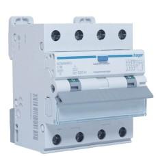 Диференційний автоматичний вимикач Hager ADM466C 6kA C-16A 30mA А