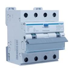 Диференційний автоматичний вимикач Hager AFM490C C-40A 6кА 300мA 4П