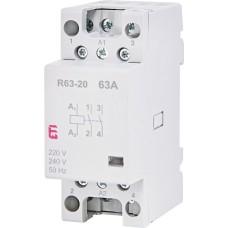 Модульний контактор ETI 002463482 R 63-20 230V