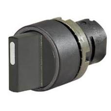 Чорний перемикач New Elfin ne020STAMONK тип 0 (положення I-0-II під 45º)